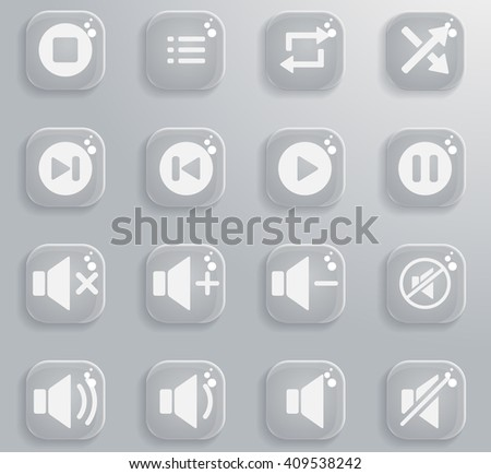 Media player simply symbol for web icons and user interface