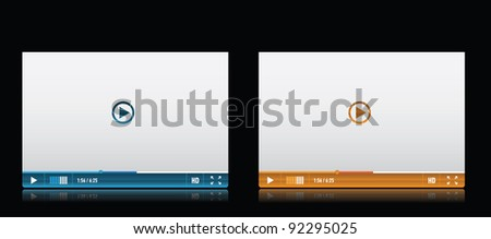 Media player skin - stock vector