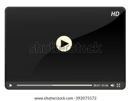 Media player vector - stock vector