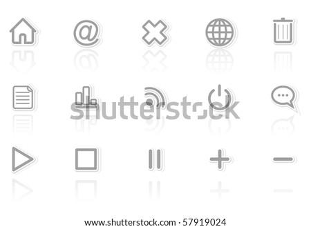 media signs - stock vector