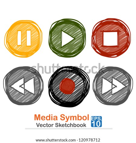 Media symbol : vector sketchbook - stock vector