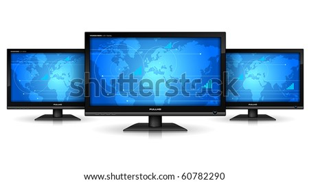 Media technologies concept - stock vector