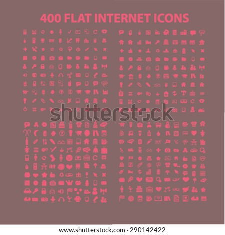 media, travel, computer, family, holidays, business, communication, construction isolated icons, signs, illustrations, vector for internet, website, mobile application on white background - stock vector
