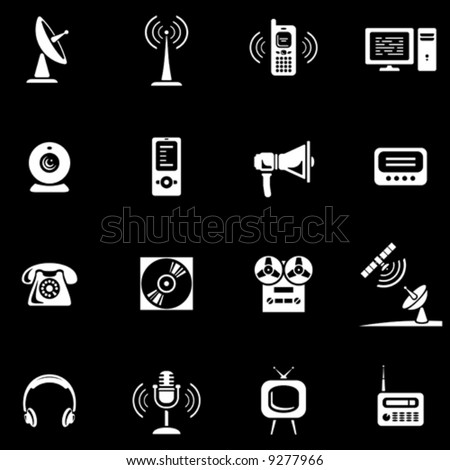 Media - Vector Icons Set  You'll find more icons in my portfolio - stock vector