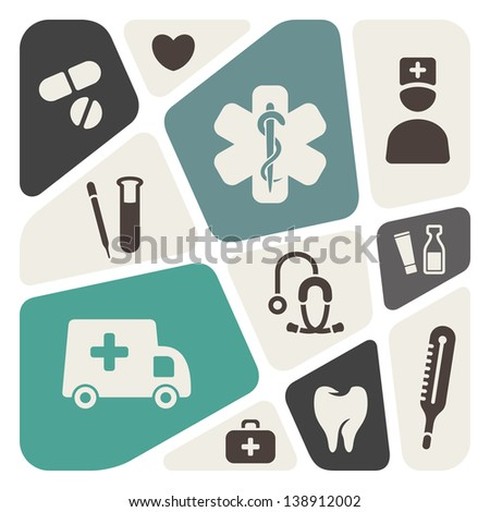 Medical abstract background - stock vector