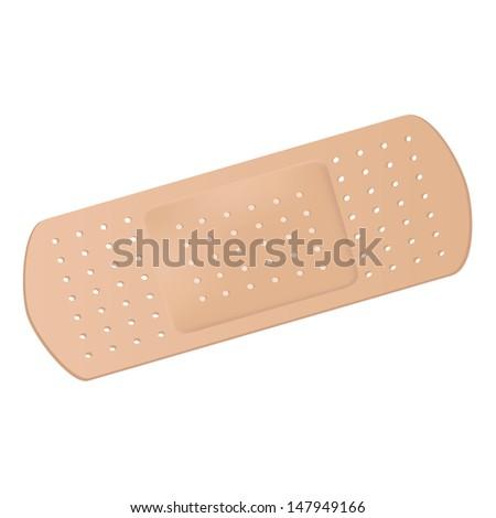 Medical adhesive bandage - stock vector