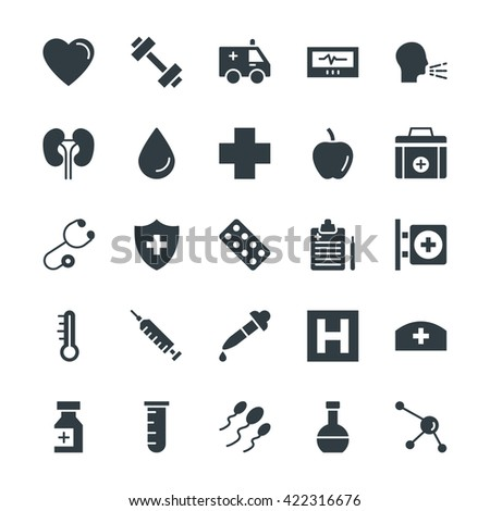 Medical and Health Cool Vector Icons 7 - stock vector
