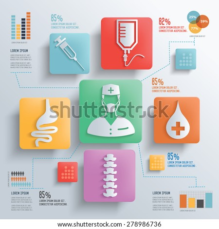 Medical and healthy care concept design clean background,clean vector - stock vector