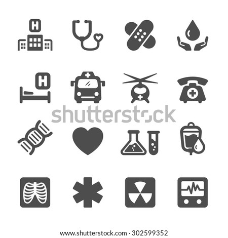 medical and hospital icon set 7, vector eps10. - stock vector