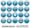 Medical and hospital shiny  icons set - stock vector