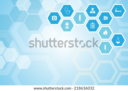 Medical background and icons to treat patients. - stock vector