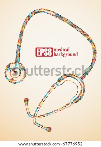 medical background, eps8 - stock vector