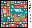 Medical background. Metro style. Vector Illustration, eps 10, contains transparencies. - stock photo