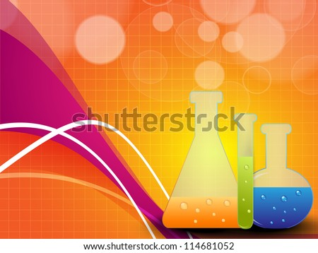 Medical background with test tubes. EPS 10. - stock vector