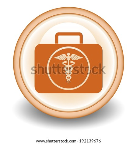 medical bag icon  sign - stock vectorMedical Bag Icon
