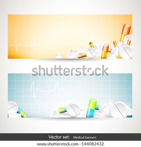 Medical banners  - stock vector