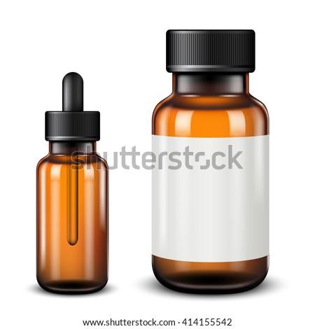 Medical bottles isolated on white - stock vector