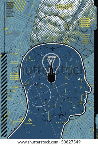 Medical brain abstract. - stock vector