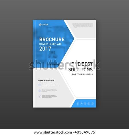 medical brochure cover template flyer design stock vector royalty