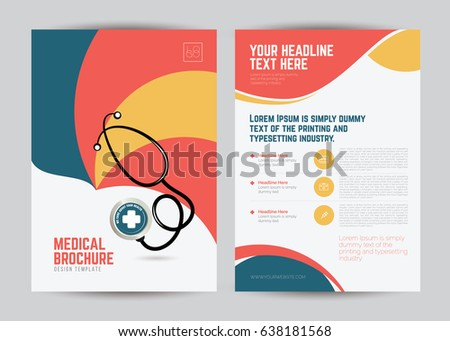 Medical Brochure Flyer Design Template A Stock Vector