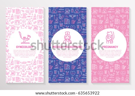 Medical Brochure Template Gynecology Flyer Vector Stock Vector