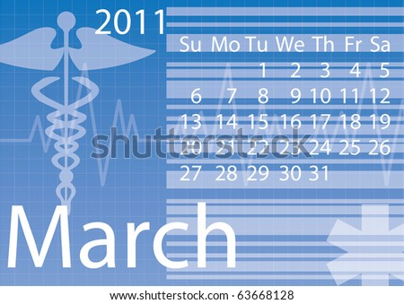 Medical calendar for 2011. March