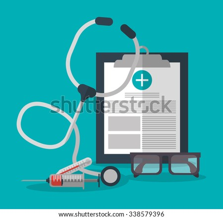 Medical care concept about health care icons design, vector illustration 10 eps graphic.