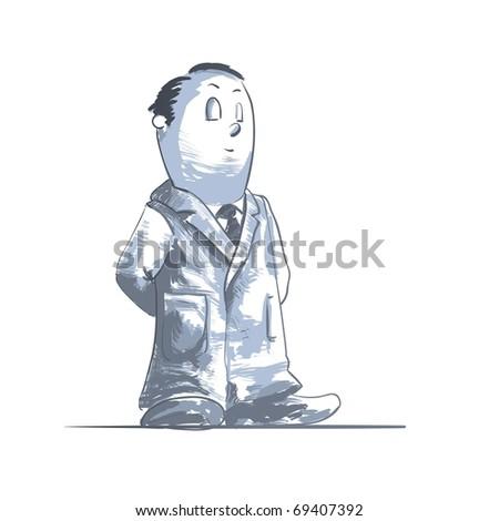 Medical cartoons - doctor posing Detailed vector illustration - stock vector