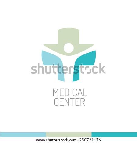 Medical center logo template - stock vector