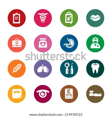 Medical Color Icon - stock vector