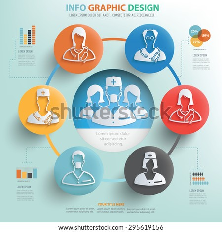 Medical concept and doctor info graphic design, Business concept design. - stock vector
