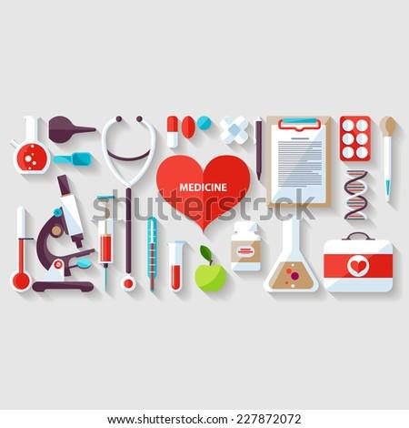 Medical concept. Flat design. - stock vector