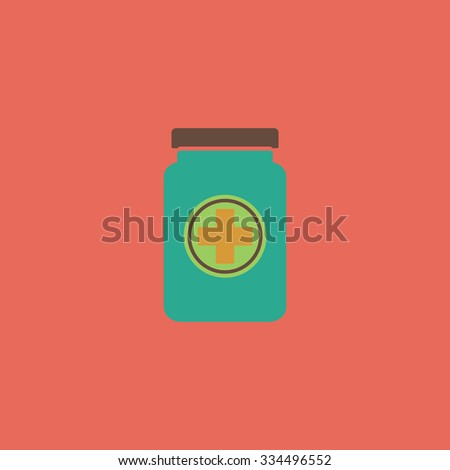 Medical container. Colorful vector icon. Simple retro color modern illustration pictogram. Collection concept symbol for infographic project and logo - stock vector