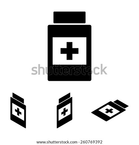 Medical container icon. Flat isometric style - stock vector