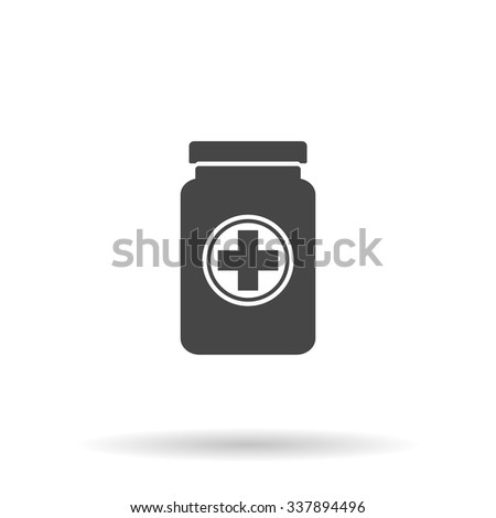 Medical container. Icon Vector - stock vector