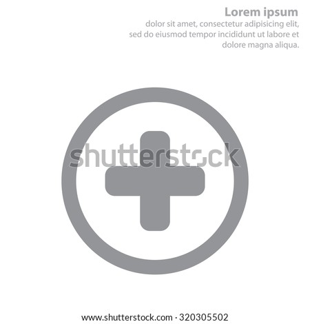 Medical cross icon - stock vector