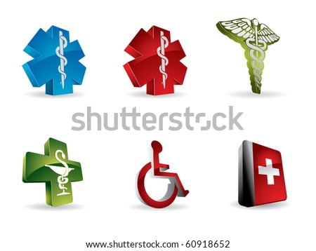 Medical 3d icons - stock vector