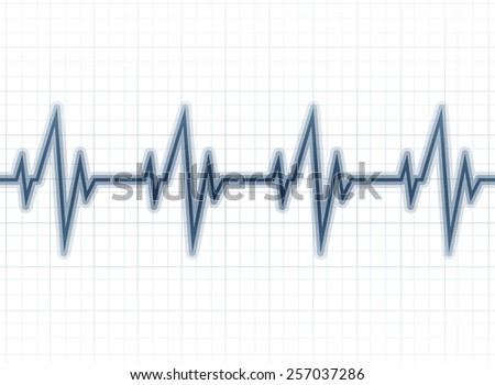 Medical design -  cardiogram - stock vector