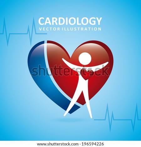Medical design over blue background, vector illustration - stock vector