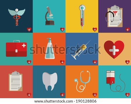 Medical design over colorful background, vector illustration - stock vector