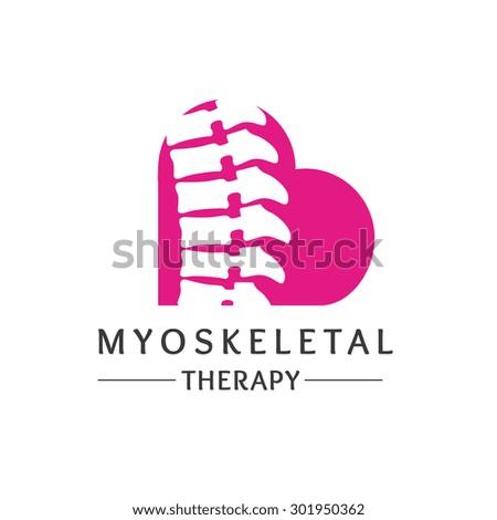 Medical diagnostic spine logo Vector Logo Template. - stock vector
