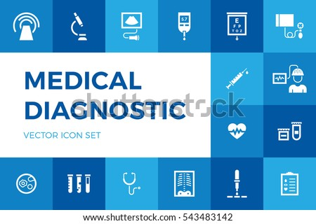 diagnostic stock images royalty images vectors shutterstock medical diagnostic vector icon set medicine test signs in flat style hospital pictogram symbols