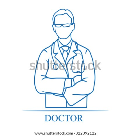 Medical doctor icon - stock vector