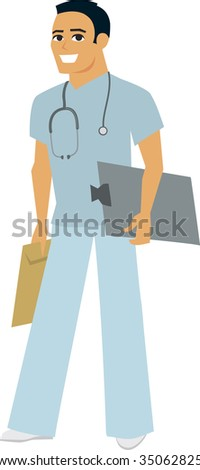 Medical doctor nurse vector - MOre on this collection