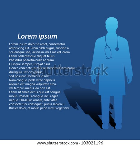 Medical doctor silhouette - stock vector