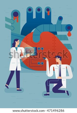 Medical flat style illustration