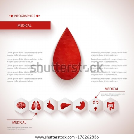 Medical health care background. - stock vector