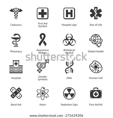Medical & Health Care Icons - Set 1 - stock vector