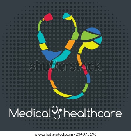 medical healthcare. A stethoscope icon Vector illustration. medical design - stock vector