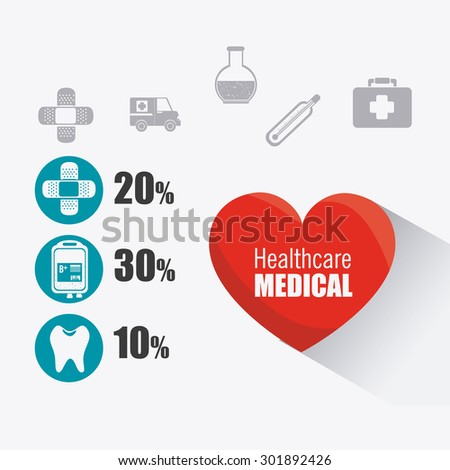 Medical healthcare design, vector illustration eps 10.